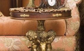 Столик журнальный  BOGACHO с мраморным литьем