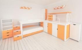 Детская комната двухъярусная ЛОФТ