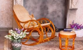Кресло-качалка 05-04 и пуф 12-18