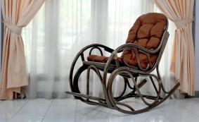 Кресло-качалка с подножкой арт.0517 Promo